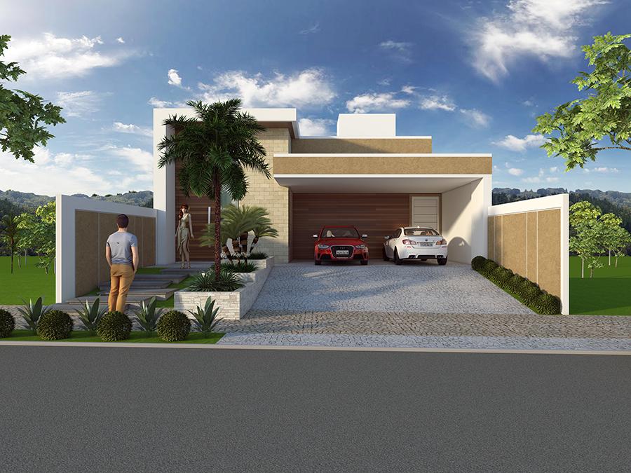 Projeto casa sobrado terreno em declive arquitetura for Casas grandes modernas
