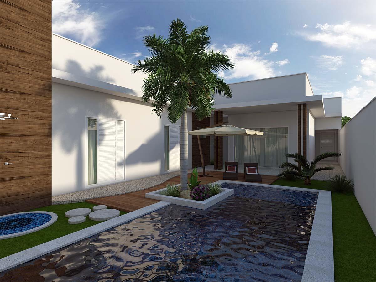 projeto casa térrea 180 metros terreno plano 11x25 condomínios  #426589 1200 900