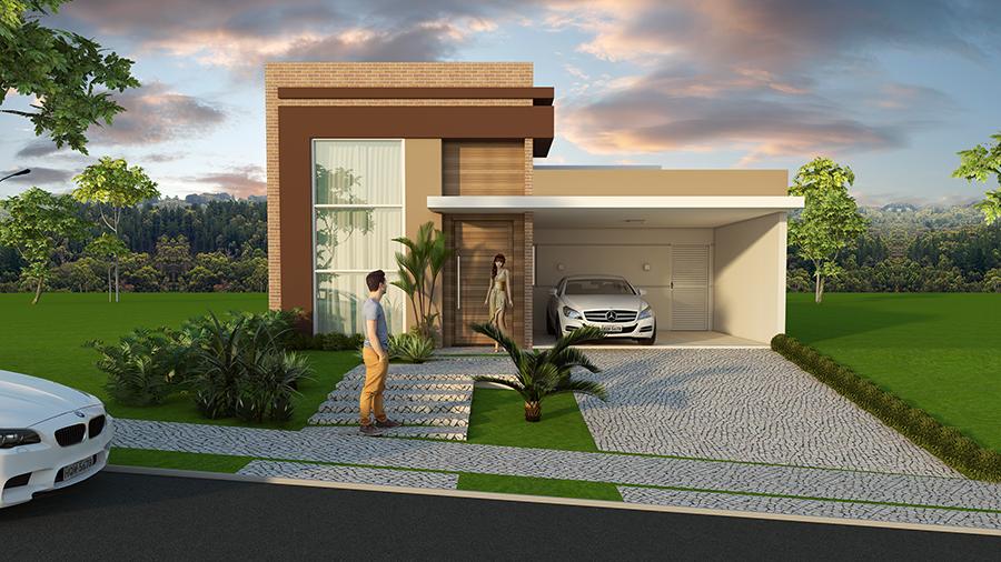 Projeto casa t rrea com 03 suites em terreno 10x25 - Piano casa in condominio ...