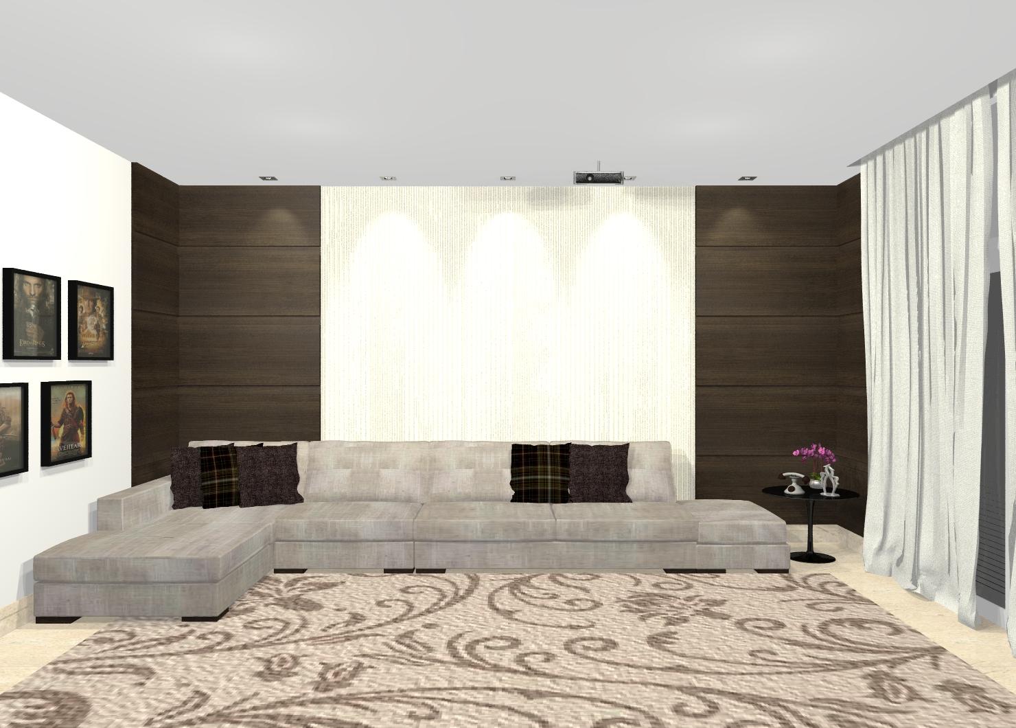 Projeto Sala Tv Home Theater ~ Galeria de Projetos de Design de Interiores no Guia da Construção