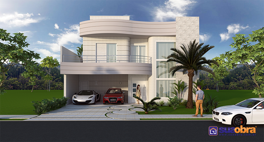 Projeto E Planta De Casa Sobrado Terreno Plano Arquitetura