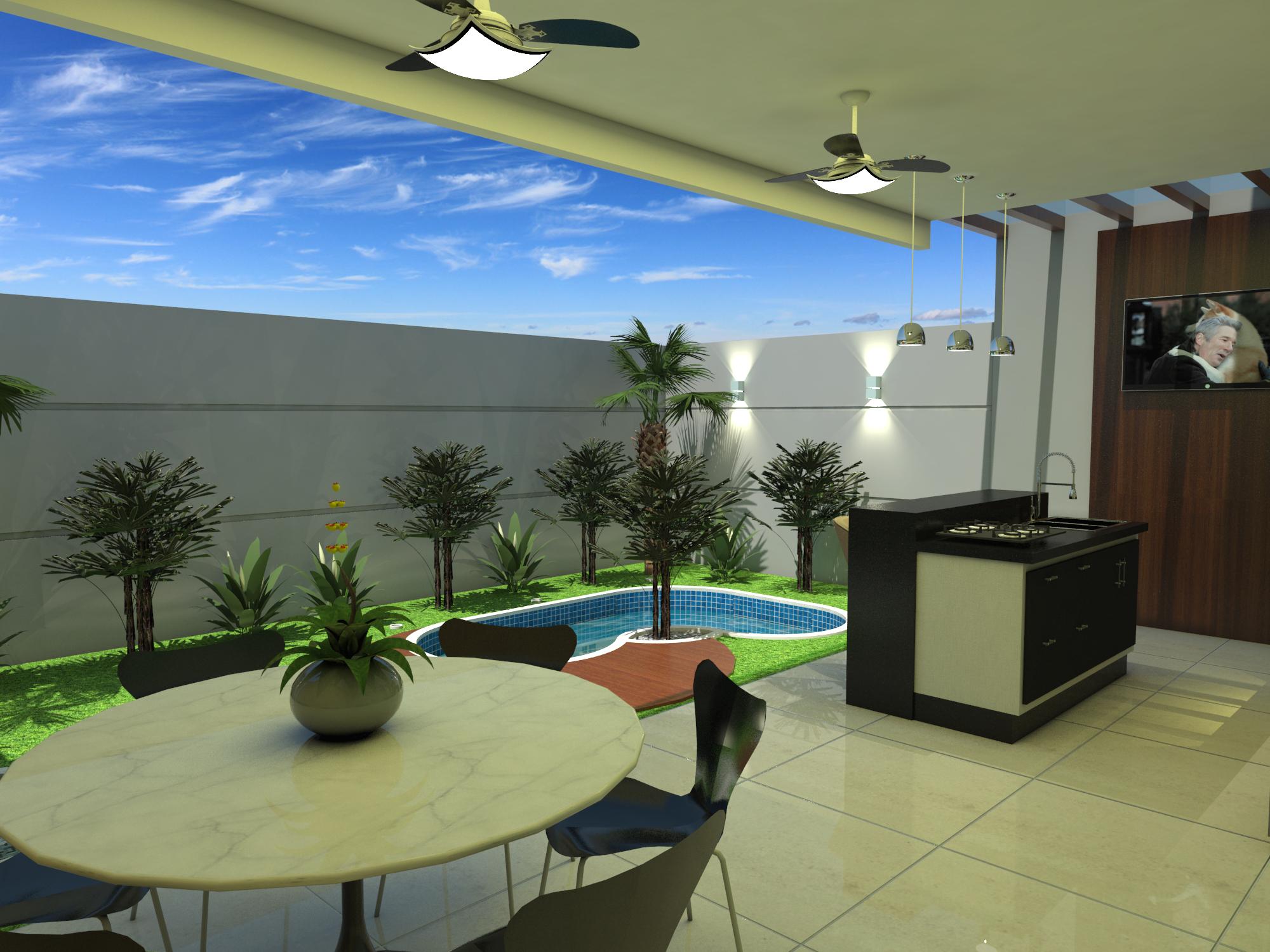 Projeto planta casa sobrado moderno terreno 8x25 em for Modelo de casa x dentro