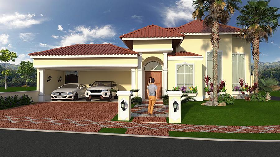 Projetos de casas cl ssicas com estilo americano em for Casas estilo americano