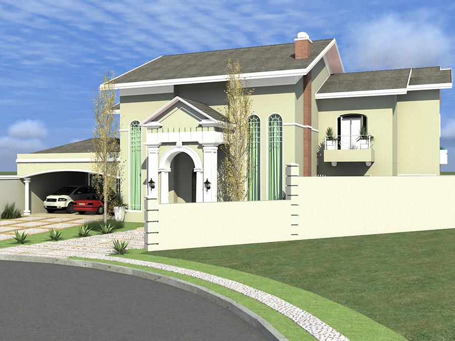 Projetos de casa com fachada estilo americano est o em for Casas modernas brasil