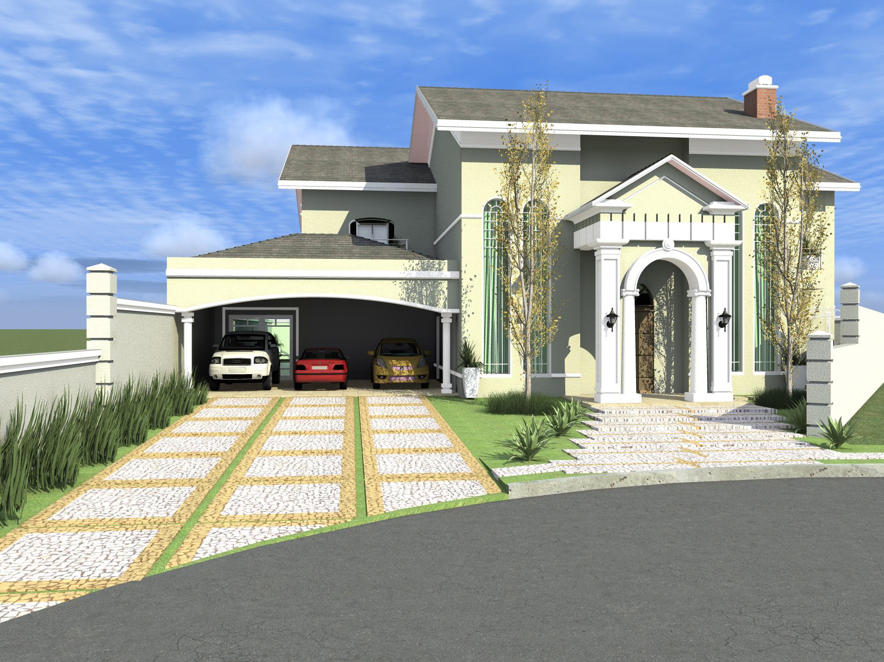 Casa americana no brasil em campinas for Casa moderna classica