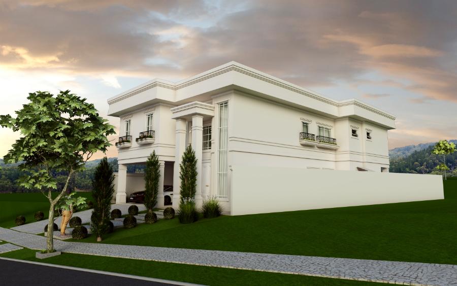 Projeto casa cl ssica sobrado arquitetos em campinas for Casa classica pesaro