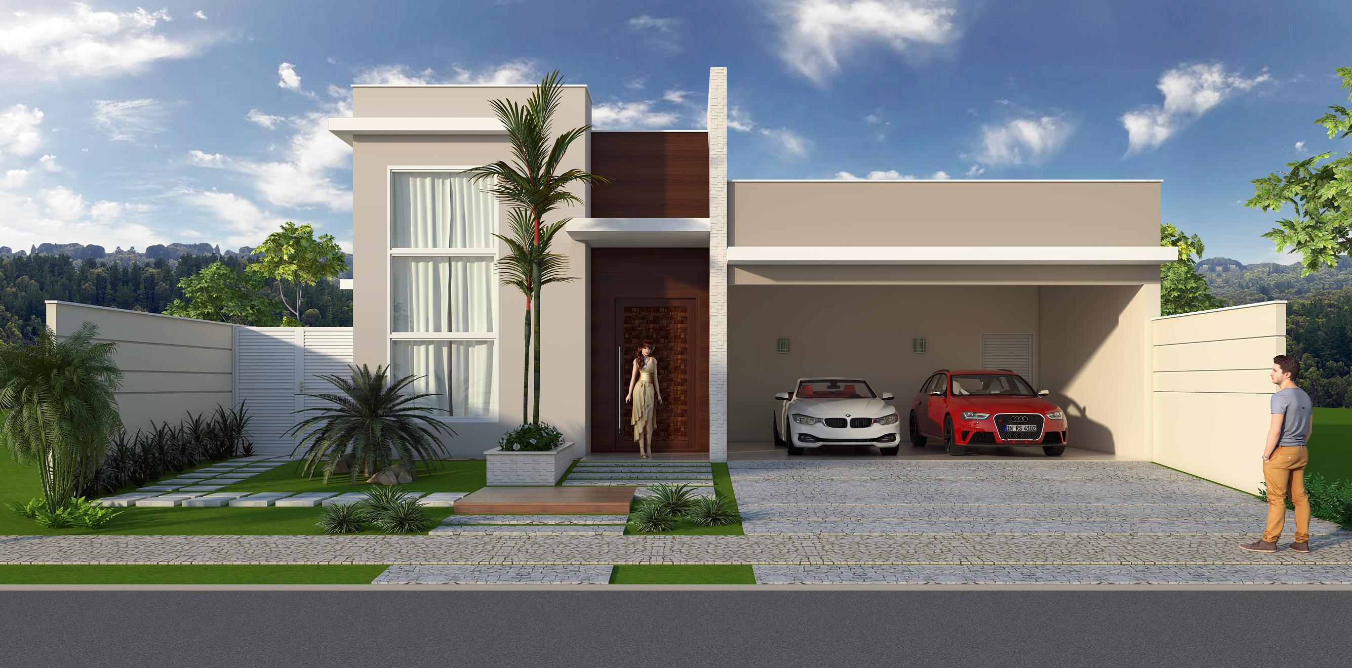 Projeto arquitetura terrea for Casas largas y estrechas
