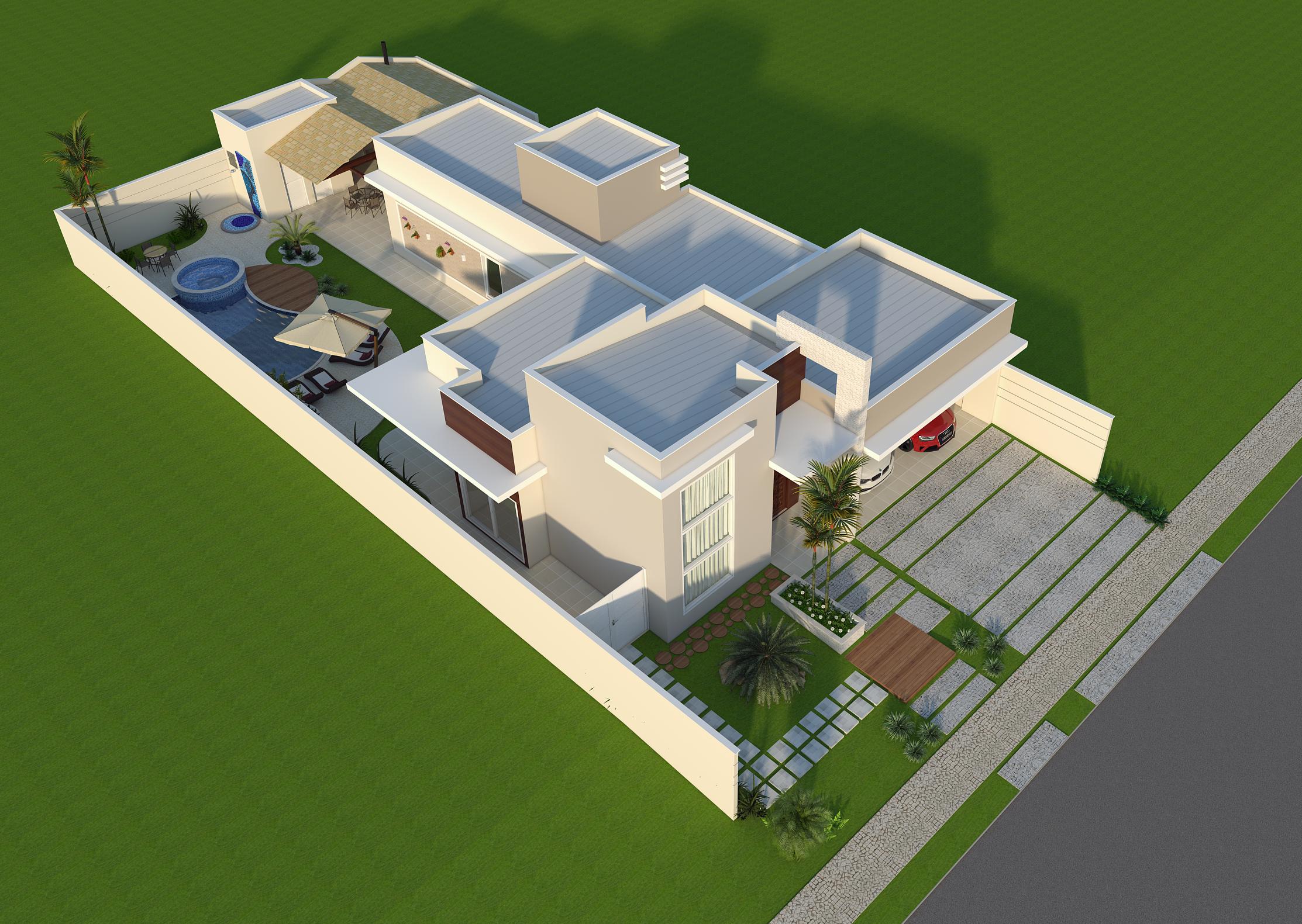 Projetos de arquitetura de casa t rrea est o em alta sua obra for Casa moderna de 8 x 10
