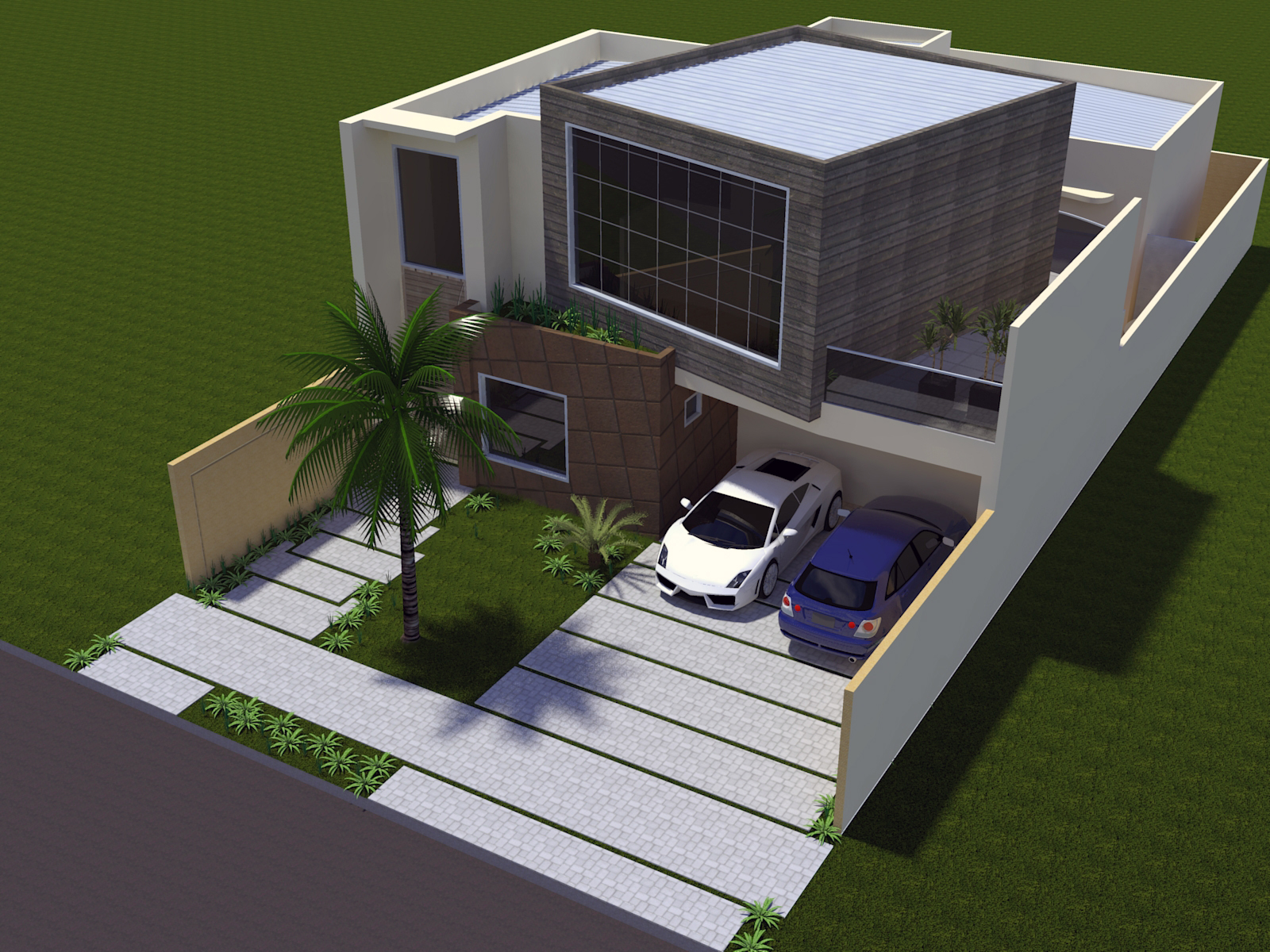 Projeto arquitetura moderna t rrea mezanino terreno 10x25 for Casas modernas 8x20