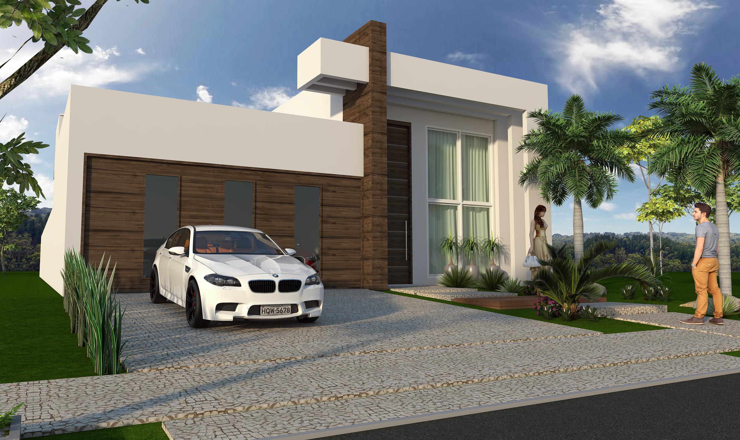 Arquitetura moderna casas terreas casa avr ovar habitaes for Casa moderna