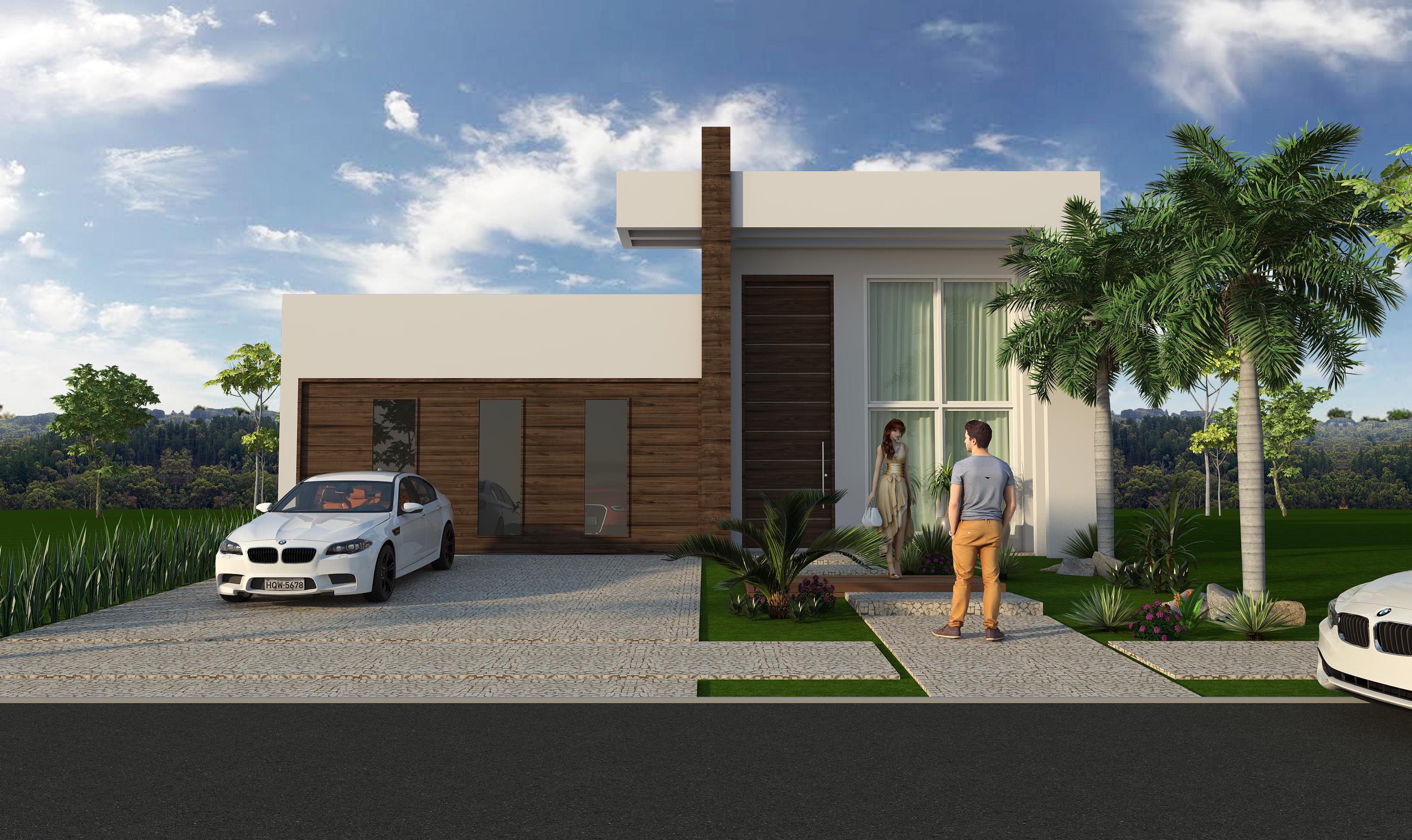 Projeto De Arquitetura De Casa T 233 Rrea Com Fachada Moderna