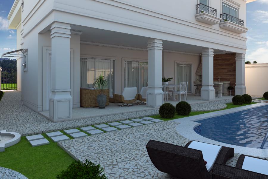 Projeto casa cl ssica sobrado arquitetos em campinas for Casa classica villa medici