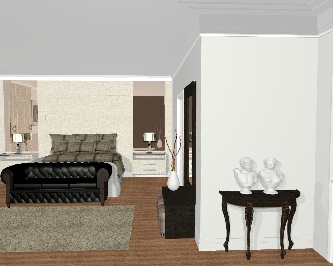 Imagens de Projetos de Design de Interiores de Quarto e Suite do