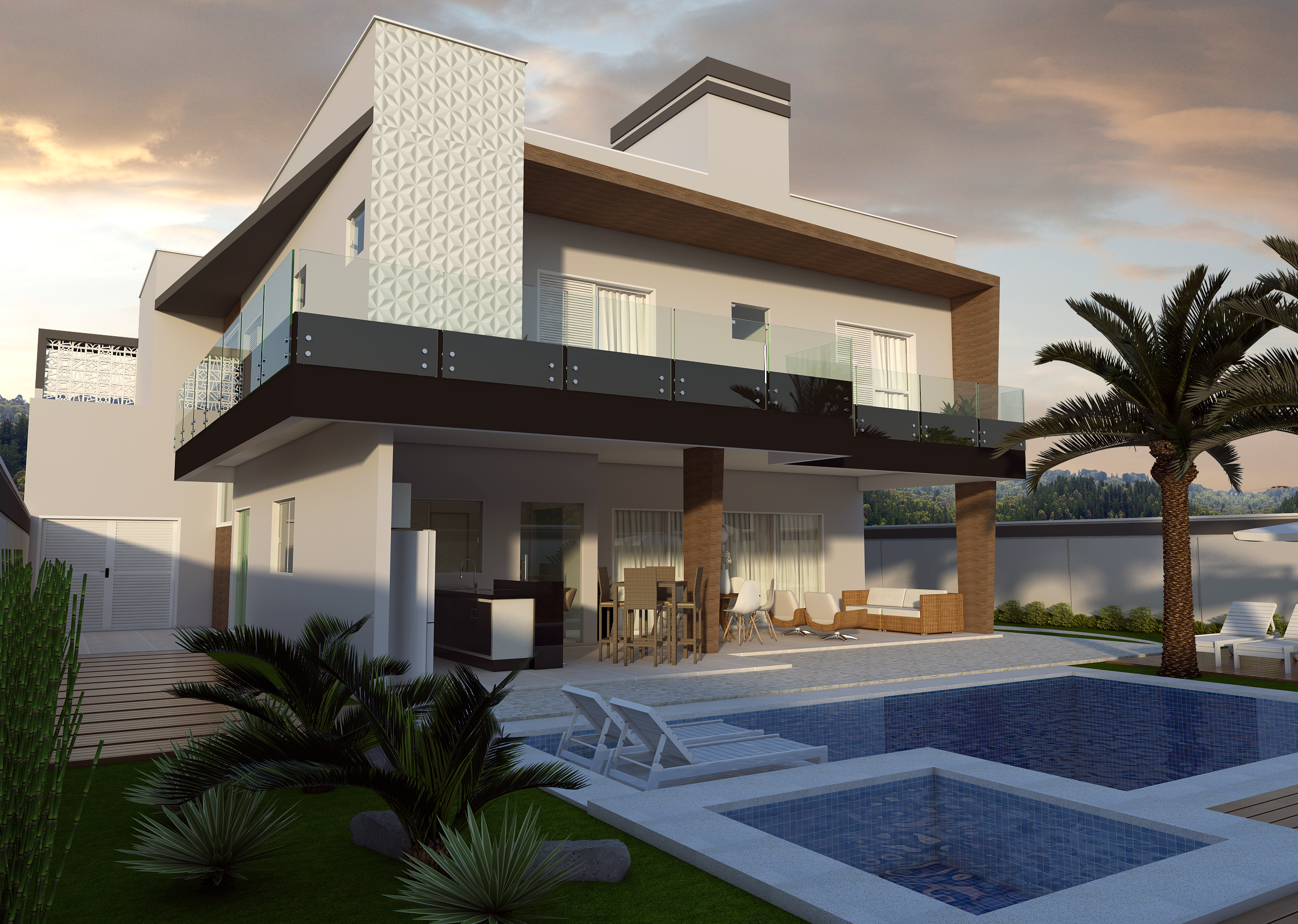Projeto planta casa sobrado fachada moderna terreno plano for Download gratuito di piani casa moderna