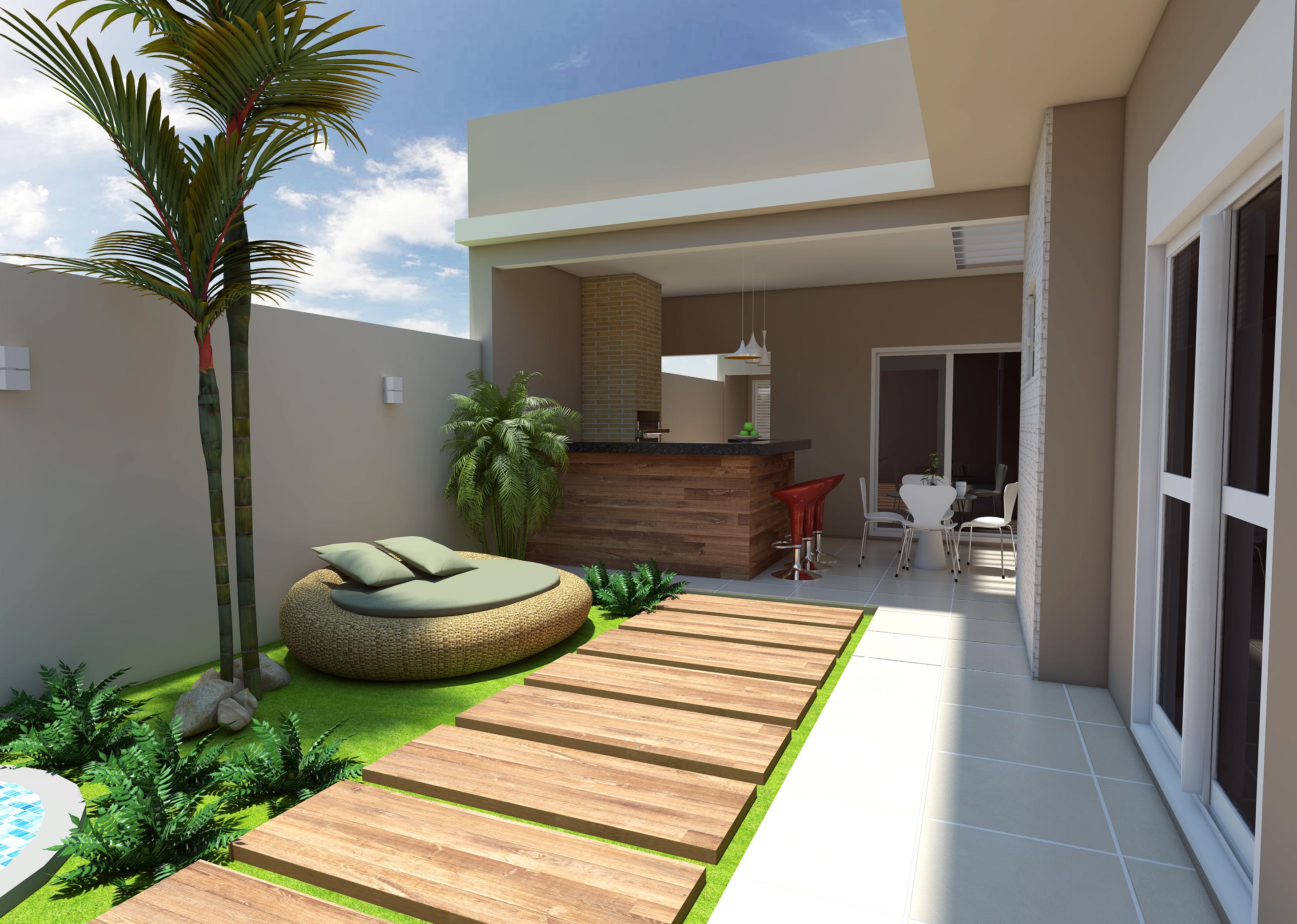Projeto planta construir casa terrea moderna terreno 10x25 for Casas pequenas e modernas 2017